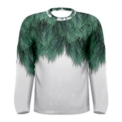 Snow And Tree Men s Long Sleeve Tee by jumpercat