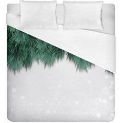 Snow And Tree Duvet Cover (king Size)