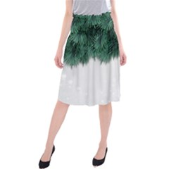 Snow And Tree Midi Beach Skirt