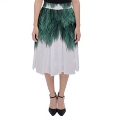 Snow And Tree Folding Skater Skirt by jumpercat