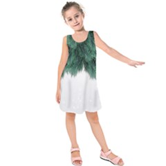 Snow And Tree Kids  Sleeveless Dress