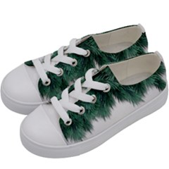Snow And Tree Kids  Low Top Canvas Sneakers by jumpercat