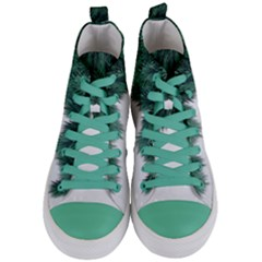 Snow And Tree Women s Mid Top Canvas Sneakers