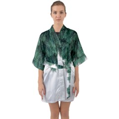Snow And Tree Quarter Sleeve Kimono Robe