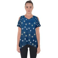 Christmas Light Blue Cut Out Side Drop Tee