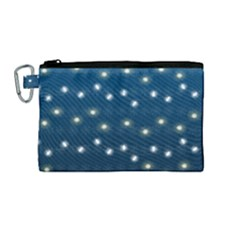 Christmas Light Blue Canvas Cosmetic Bag (medium) by jumpercat