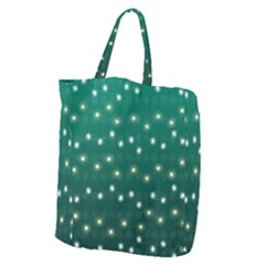 Christmas Light Green Giant Grocery Zipper Tote