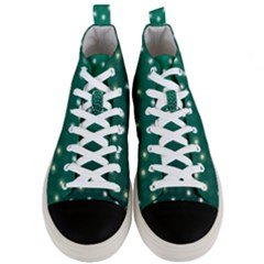 Christmas Light Green Men s Mid Top Canvas Sneakers