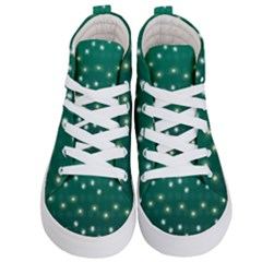 Christmas Light Green Kid s Hi Top Skate Sneakers