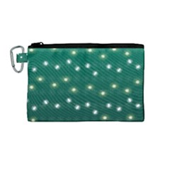 Christmas Light Green Canvas Cosmetic Bag (medium)