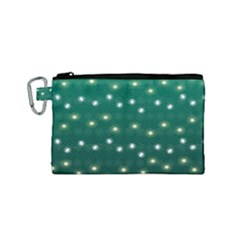 Christmas Light Green Canvas Cosmetic Bag (small) by jumpercat