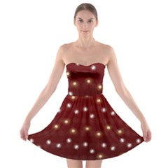 Christmas Light Red Strapless Bra Top Dress