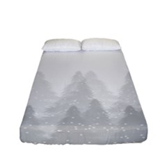 Winter Land Light Fitted Sheet (full/ Double Size)