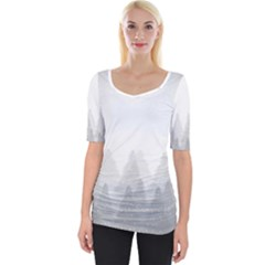 Winter Land Light Wide Neckline Tee