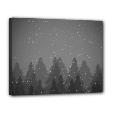Winter Land Dark Canvas 14  X 11  by jumpercat