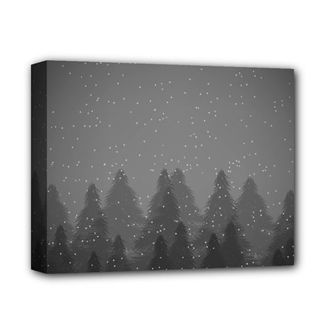 Winter Land Dark Deluxe Canvas 14  X 11  by jumpercat