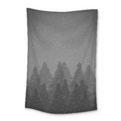 Winter Land Dark Small Tapestry by jumpercat