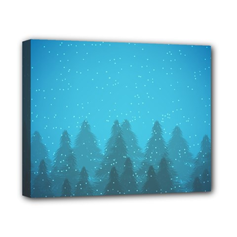 Winter Land Blue Canvas 10  X 8  by jumpercat