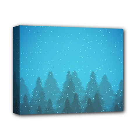 Winter Land Blue Deluxe Canvas 14  X 11  by jumpercat