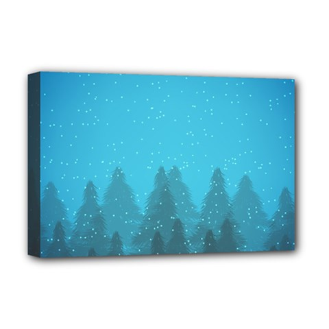 Winter Land Blue Deluxe Canvas 18  X 12