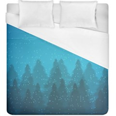 Winter Land Blue Duvet Cover (king Size) by jumpercat