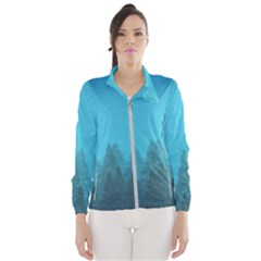 Winter Land Blue Wind Breaker (women)