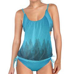 Winter Land Blue Tankini Set
