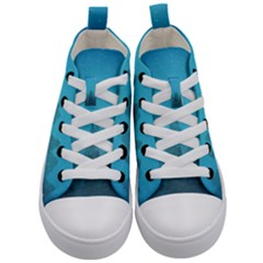 Winter Land Blue Kid s Mid Top Canvas Sneakers