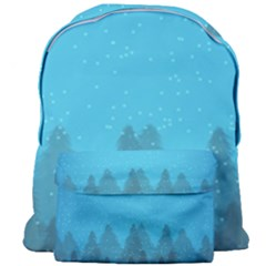 Winter Land Blue Giant Full Print Backpack by jumpercat