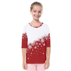 Xmas Snow 01 Kids  Quarter Sleeve Raglan Tee