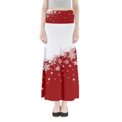 Xmas Snow 01 Full Length Maxi Skirt