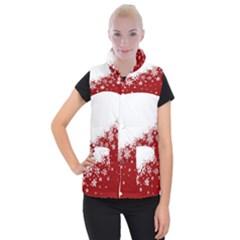 Xmas Snow 01 Women s Button Up Puffer Vest