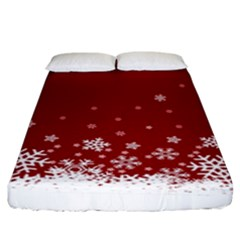 Xmas Snow 02 Fitted Sheet (king Size)
