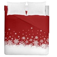 Xmas Snow 02 Duvet Cover Double Side (queen Size)