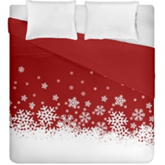Xmas Snow 02 Duvet Cover Double Side (king Size)