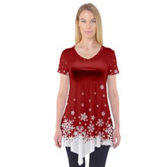 Xmas Snow 02 Short Sleeve Tunic