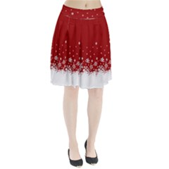 Xmas Snow 02 Pleated Skirt