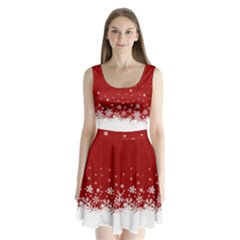 Xmas Snow 02 Split Back Mini Dress