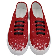 Xmas Snow 02 Women s Classic Low Top Sneakers