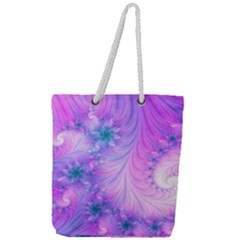 Delicate Full Print Rope Handle Tote (large) by Delasel