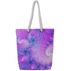 Delicate Full Print Rope Handle Tote (small) by Delasel