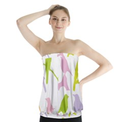 Birds Colourful Background Strapless Top by Celenk