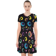 Abstract Background Retro 60s 70s Adorable In Chiffon Dress