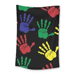 Handprints Hand Print Colourful Small Tapestry
