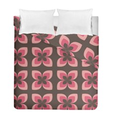 Floral Retro Abstract Flowers Duvet Cover Double Side (full/ Double Size) by Celenk