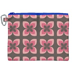 Floral Retro Abstract Flowers Canvas Cosmetic Bag (xxl) by Celenk
