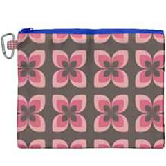 Floral Retro Abstract Flowers Canvas Cosmetic Bag (xxxl) by Celenk