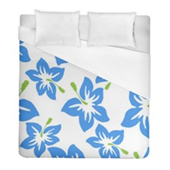 Hibiscus Wallpaper Flowers Floral Duvet Cover (full/ Double Size)
