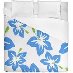 Hibiscus Wallpaper Flowers Floral Duvet Cover (king Size)