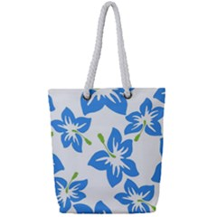 Hibiscus Wallpaper Flowers Floral Full Print Rope Handle Tote (small) by Celenk